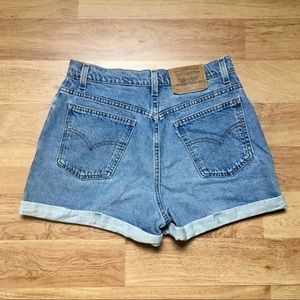 Levi's Vintage 910 High Waisted Jean Shorts